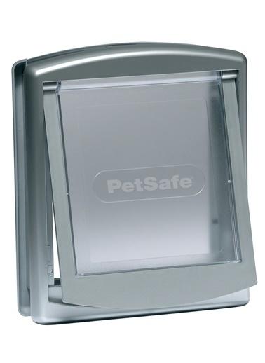 PETSAFE Petsafe Staywell 757 Ef Orjinal 2 Yönlü Kilitli Kapı Orta Boy Gümüş Gümüş